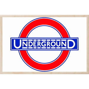 UNDERGROUND-[wooden_postcard]-[london_transport_museum]-[original_illustration]THE WOODEN POSTCARD COMPANY