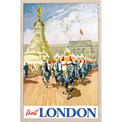 VISIT LONDON-[wooden_postcard]-[london_transport_museum]-[original_illustration]THE WOODEN POSTCARD COMPANY