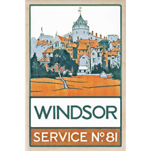 Load image into Gallery viewer, WINDSOR-[wooden_postcard]-[london_transport_museum]-[original_illustration]THE WOODEN POSTCARD COMPANY