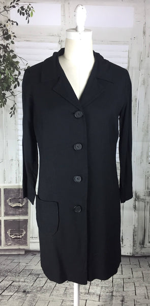 Original Vintage 1950's Black JHB Jr Cotton Coat