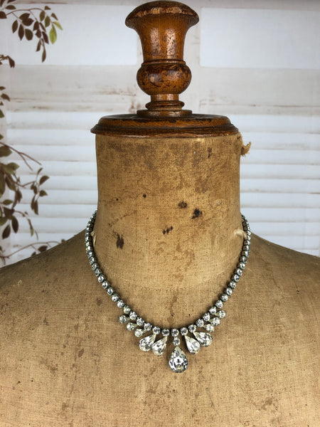 Vintage 1940s 40s Paste Diamanté Necklace