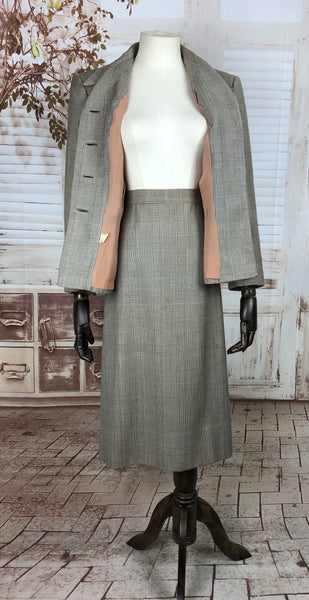 LAYAWAY PAYMENT 2 of 2 - RESERVED FOR ROMY - Original 1940s 40s Vintage Prince Of Wales Check Skirt Suit