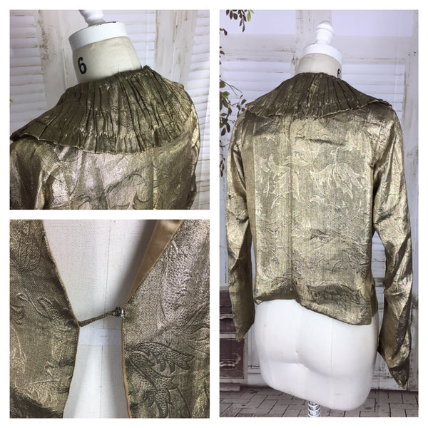 Original 1930s Gold Lame Jacket