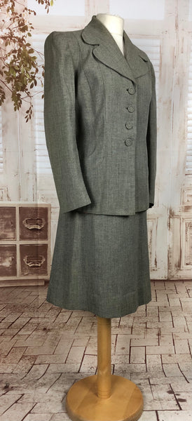 Original 1940s 40s Volup Vintage Grey Suit