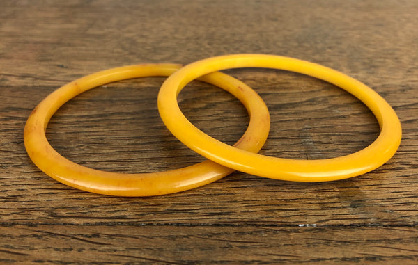 Egg Yolk Yellow Bakelite Spacer Bangle