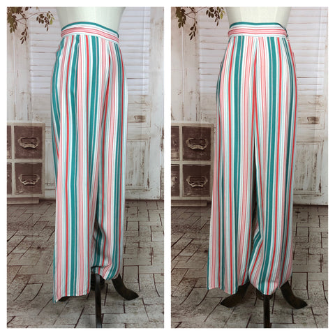 RESERVED FOR GERI - PLEASE DO NOT PURCHASE - Original 1930s 30s Vintage Striped Beach Pyjamas Trousers