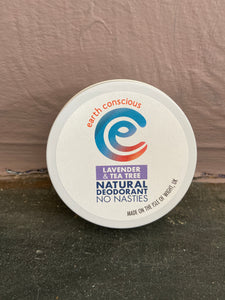 Earth Conscious Lavender & Tea Tree Deodorant Tin