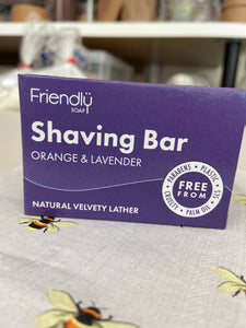 Friendly Soap Company Shaving Bar - Orange and Lavender