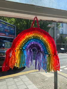 Charity Crochet Rainbow Window Hanger