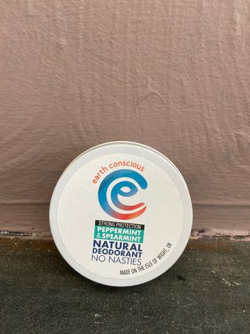 Earth Conscious Peppermint and Spearmint Strong Deodorant Tin