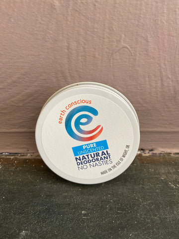 Earth Conscious Unscented Deodorant Tin