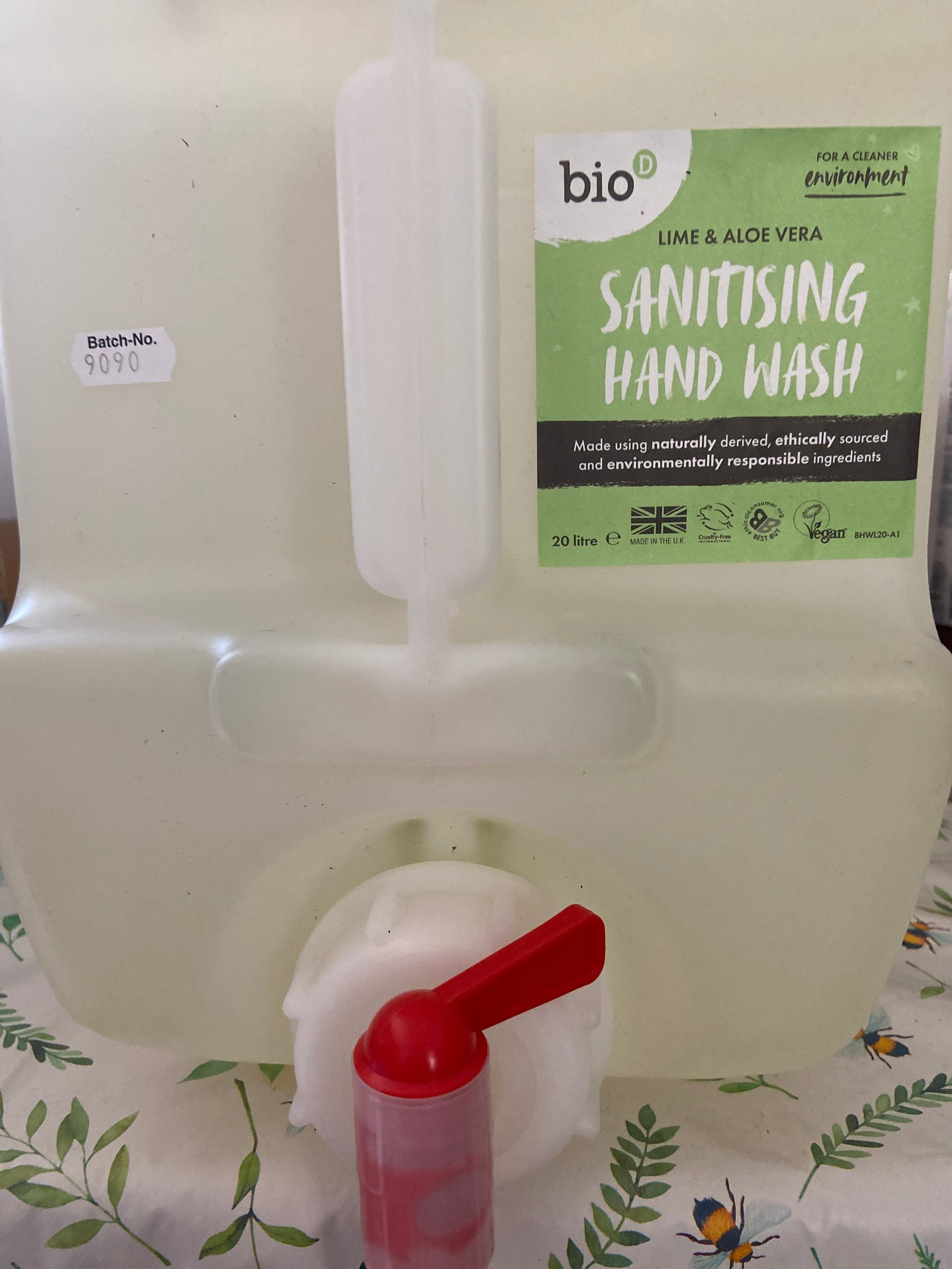 Lime and Aloe Vera Sanitising Handwash