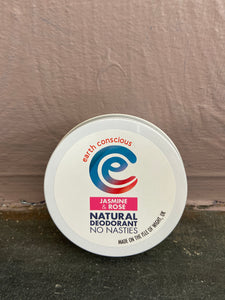 Earth Conscious Jasmine & Rose Deodorant Tin