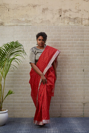 CHANDERI SILK-COTTON - RUST
