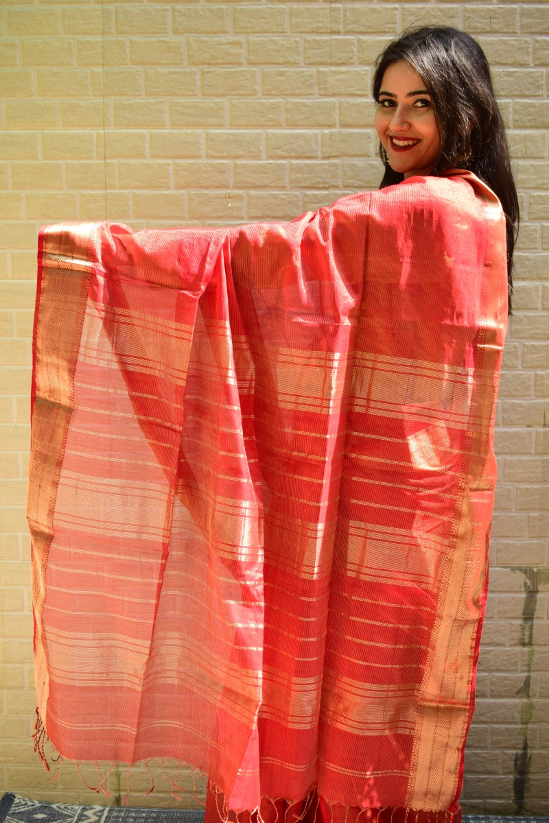 MAHESHWARI TISSUE - RED