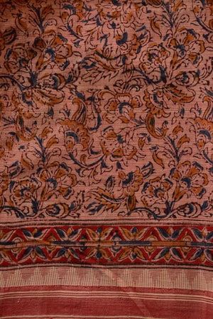 KUPPADAM KALAMKARI - PALE RED