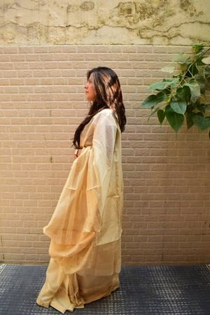 REHWA SAREE - OFF-WHITE
