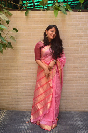 REHWA SAREE - CANDY FLOSS PINK