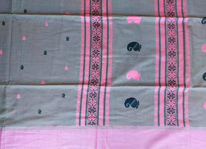 BENGAL COTTON - GREY & PINK