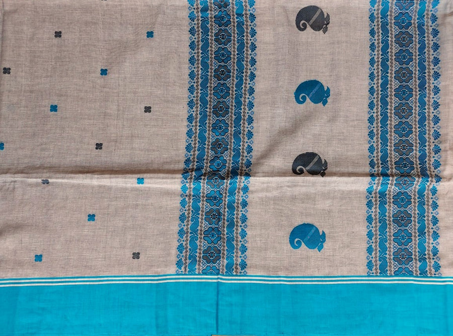 BENGAL COTTON - GREY & BLUE