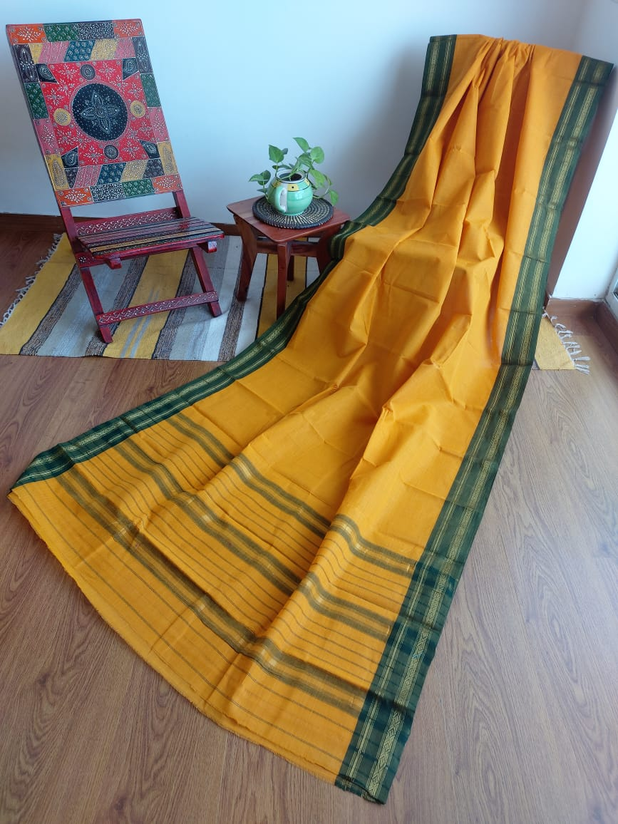 NARAYANPET - TURMERIC YELLOW SMALL CHECKS