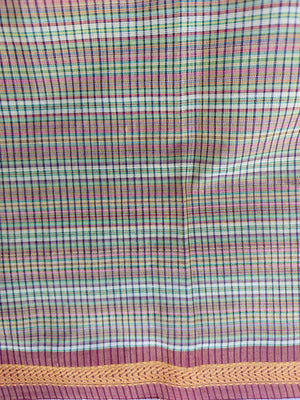 MAHESHWARI COTTON - PURPLE CHECKS