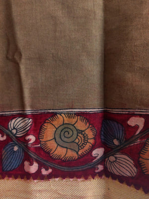 PEN KALAMKARI MANGALGIRI COTTON - 1