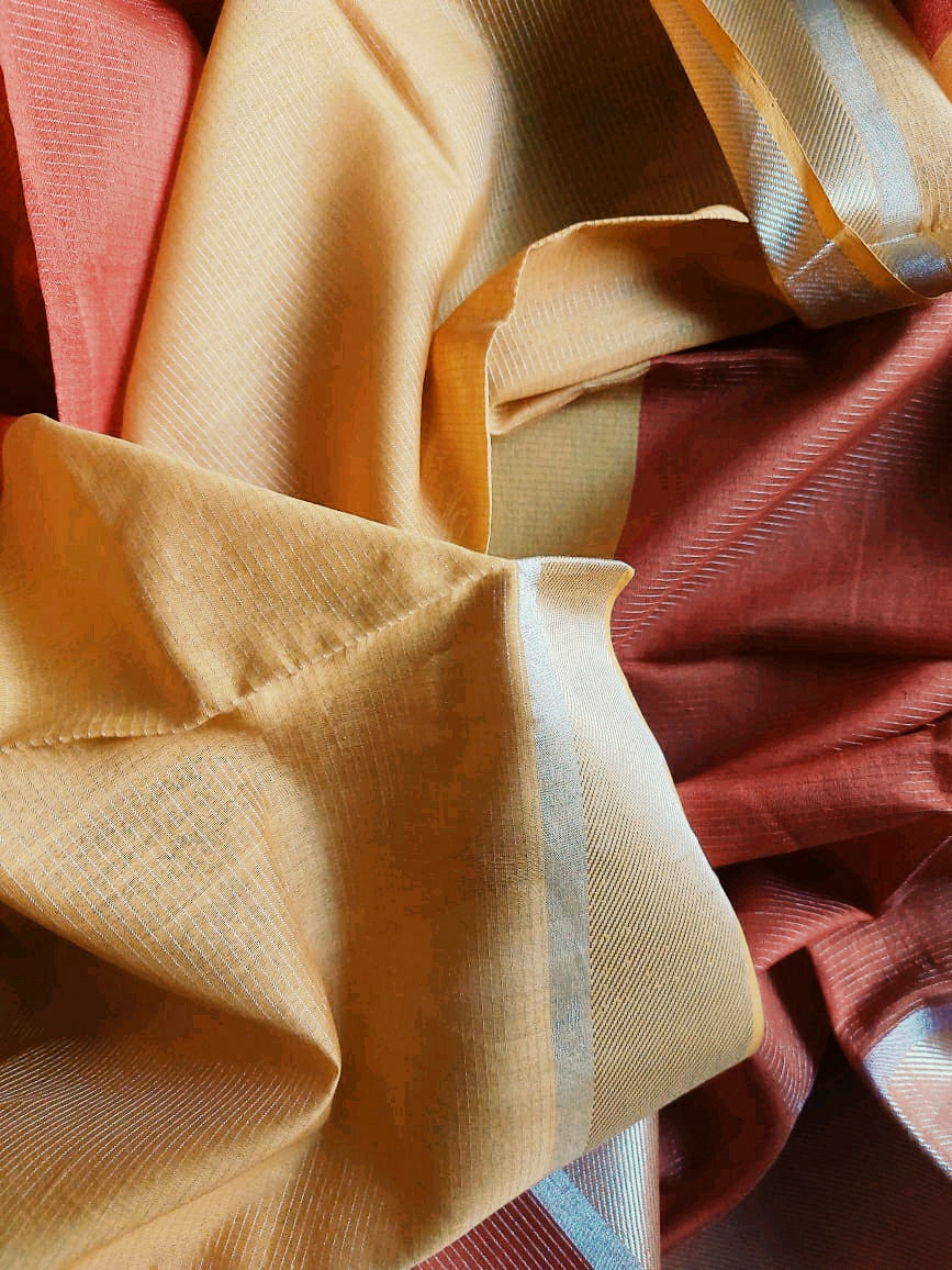 SILK-COTTON DUPATTA - RUST