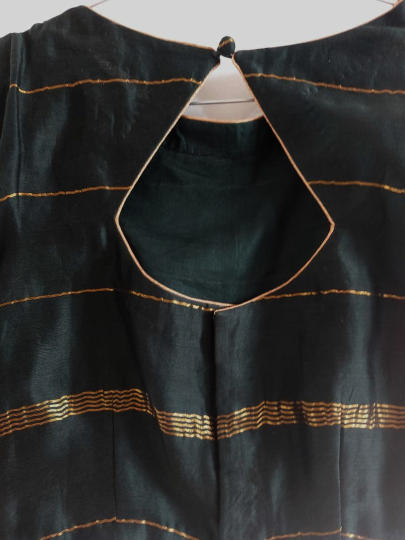 Blouse - Bottle Green Chanderi