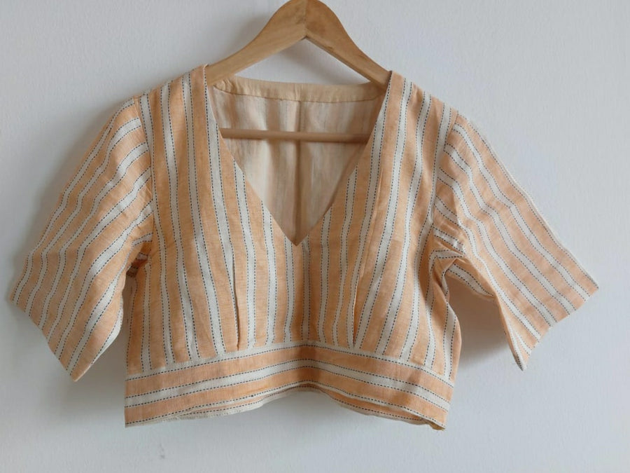 Blouse - Peach Linen 2