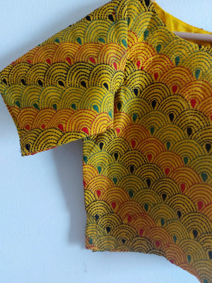 COTTON KANTHA - YELLOW