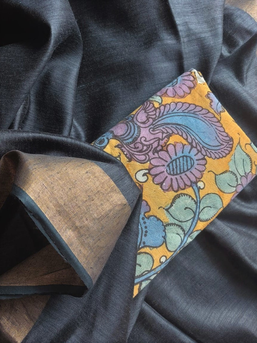 MULBERRY BY MATKA SILK - BLACK PANSY