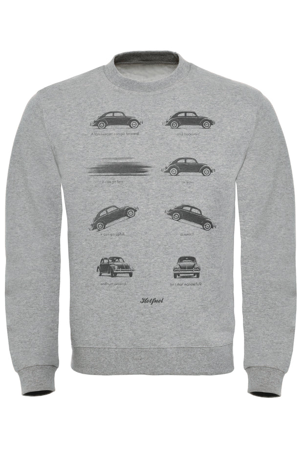 Beetle Actions Print Sweatshirt