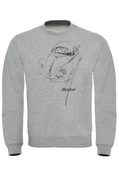 Beetle Driving Print Sweatshirt