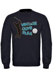 Vintage Guys Rule Golf Sweatshirt