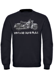 Vintage Guys Rule Biker Sweatshirt