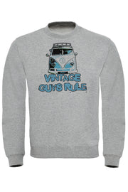 Vintage Guys Rule Camper Sweatshirt