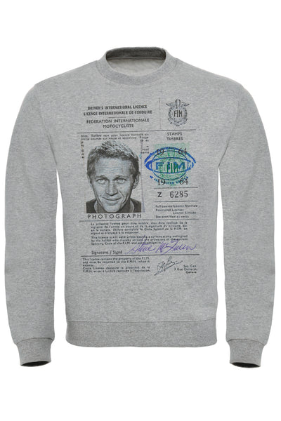McQueen License Print Sweatshirt