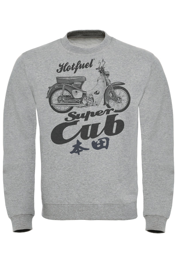 Super Cub Bike Print Sweatshirt
