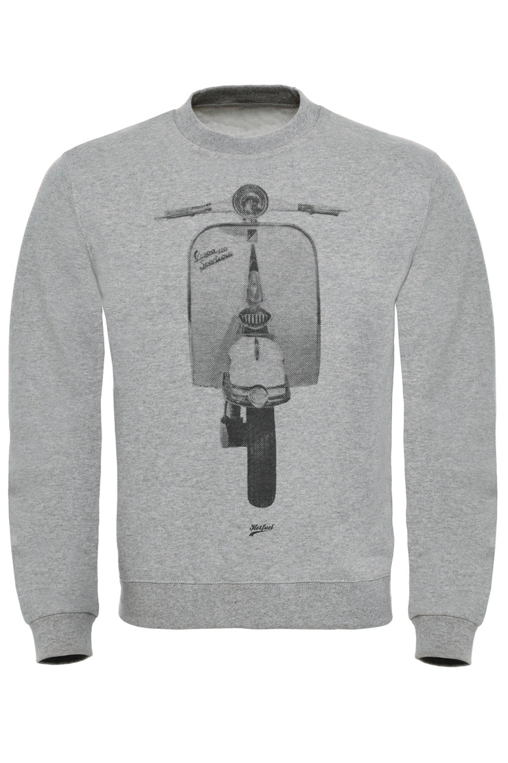 Italian Scooter Dot Print Sweatshirt
