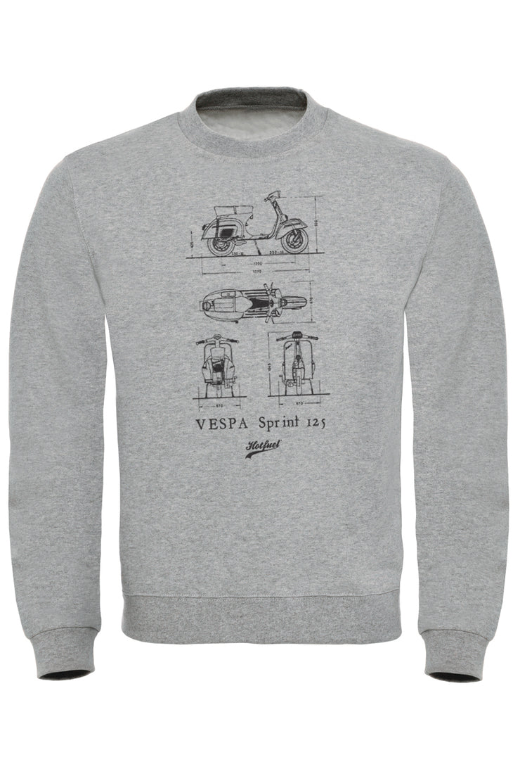Sprint 125 Blueprint Sweatshirt