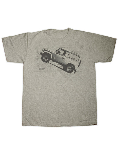 Defender Map Print T Shirt