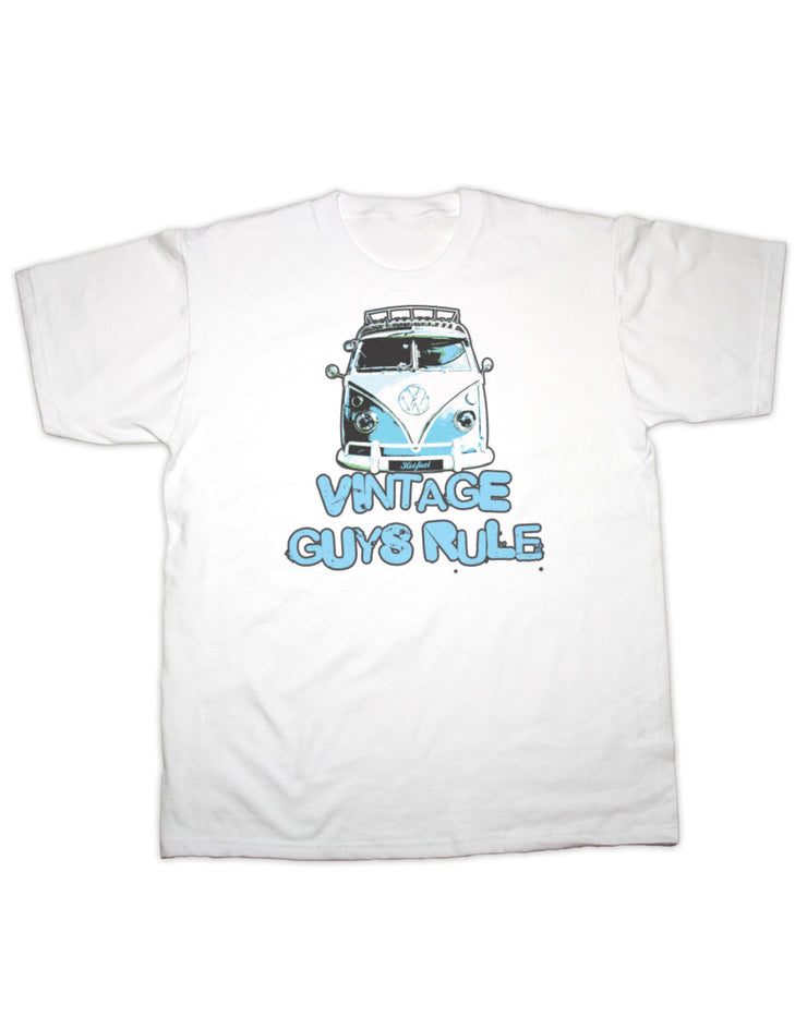 Vintage Guys Rule Camper T Shirt