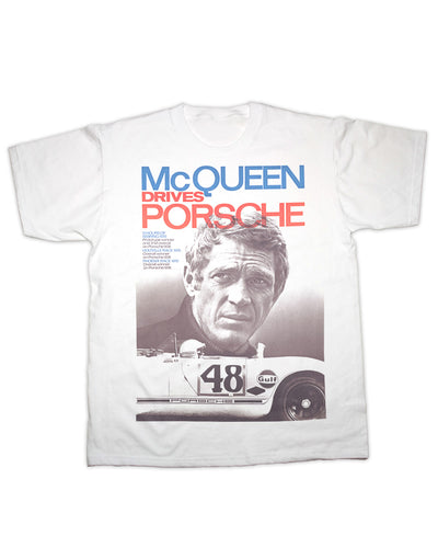 McQueen Drives Porsche T Shirt