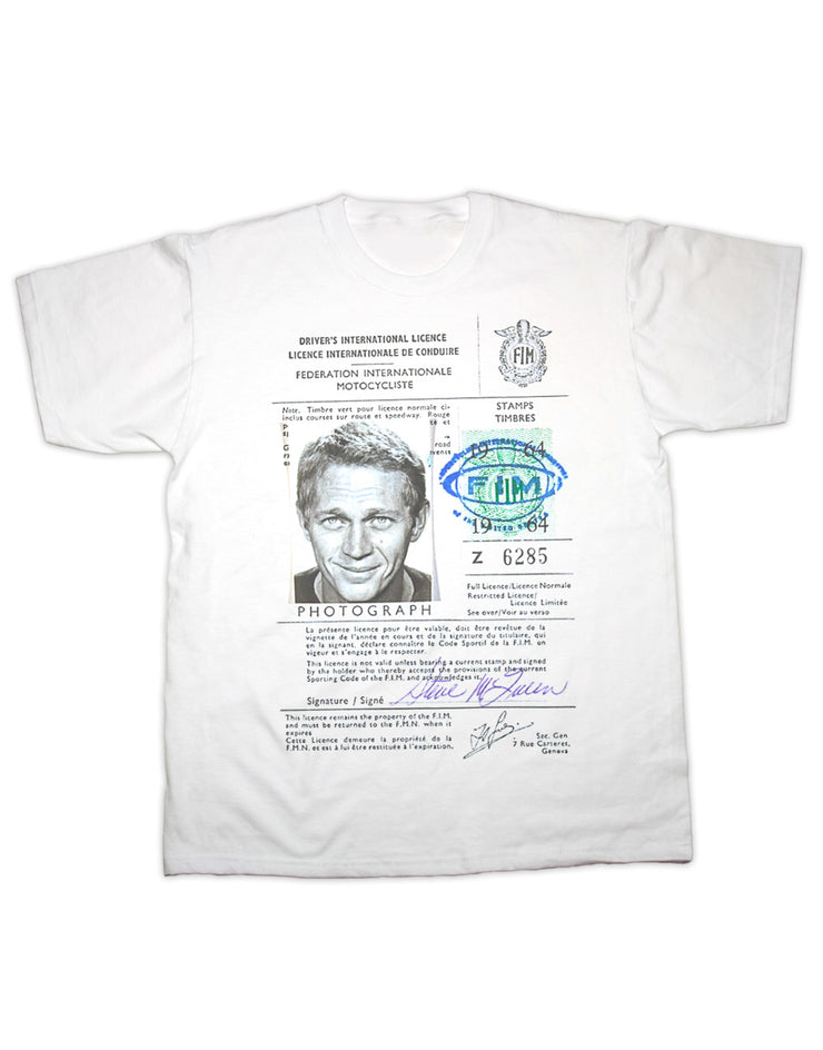 McQueen License Print T Shirt