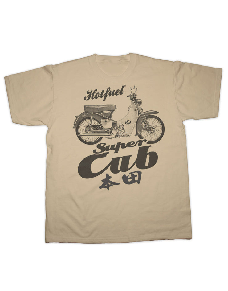 Super Cub Bike Print T Shirt
