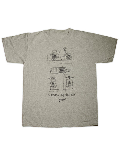 Hotfuel Sprint 125 Blueprint T Shirt