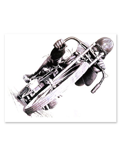 Hotfuel Wall of Death Rider Print Wall Art
