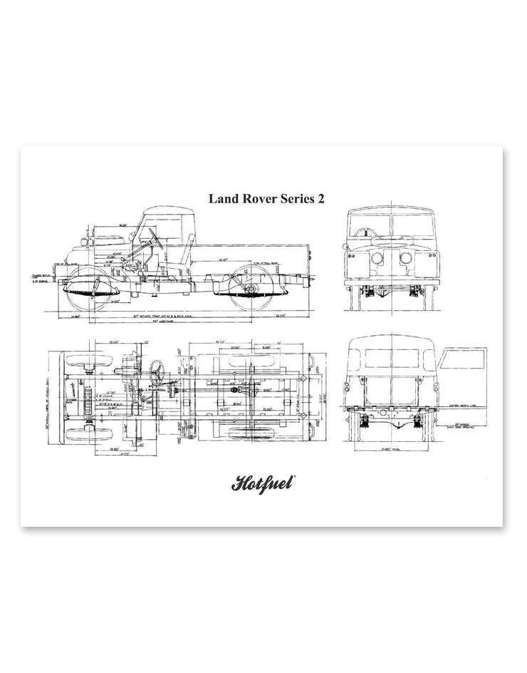Series 2 Blueprint Wall Art