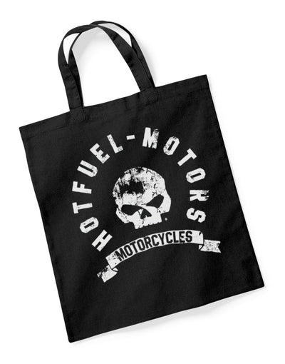 Hotfuel Motorcycles Skull Cotton Tote Bag